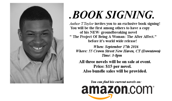 2nd book sign flyer